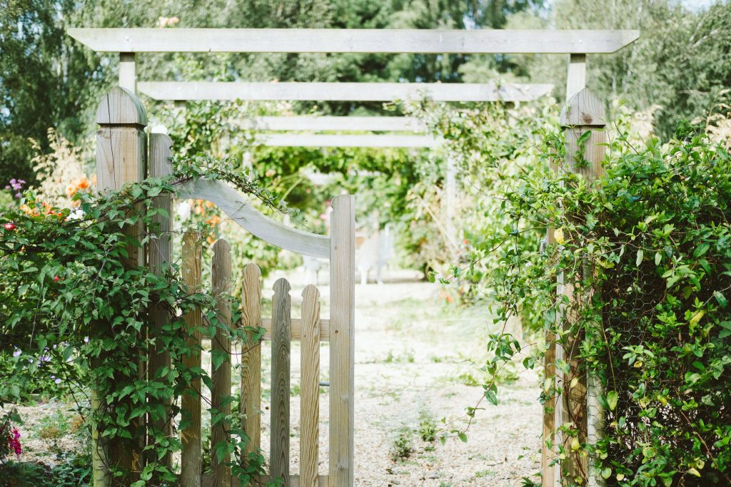 Image of a garden with a fence